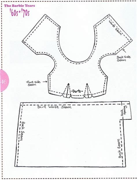 Image Result For Free Printable Barbie Doll Clothes Patterns A Adorable Barbie Doll Patterns