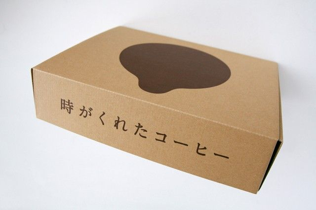 "3/8 - Infini Coffee - ""It's time for the gifted coffee."" #japanese #package #design"