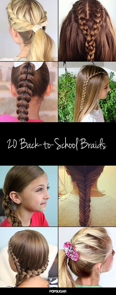 20 Back-to-School Braids | School, Board and Hair style