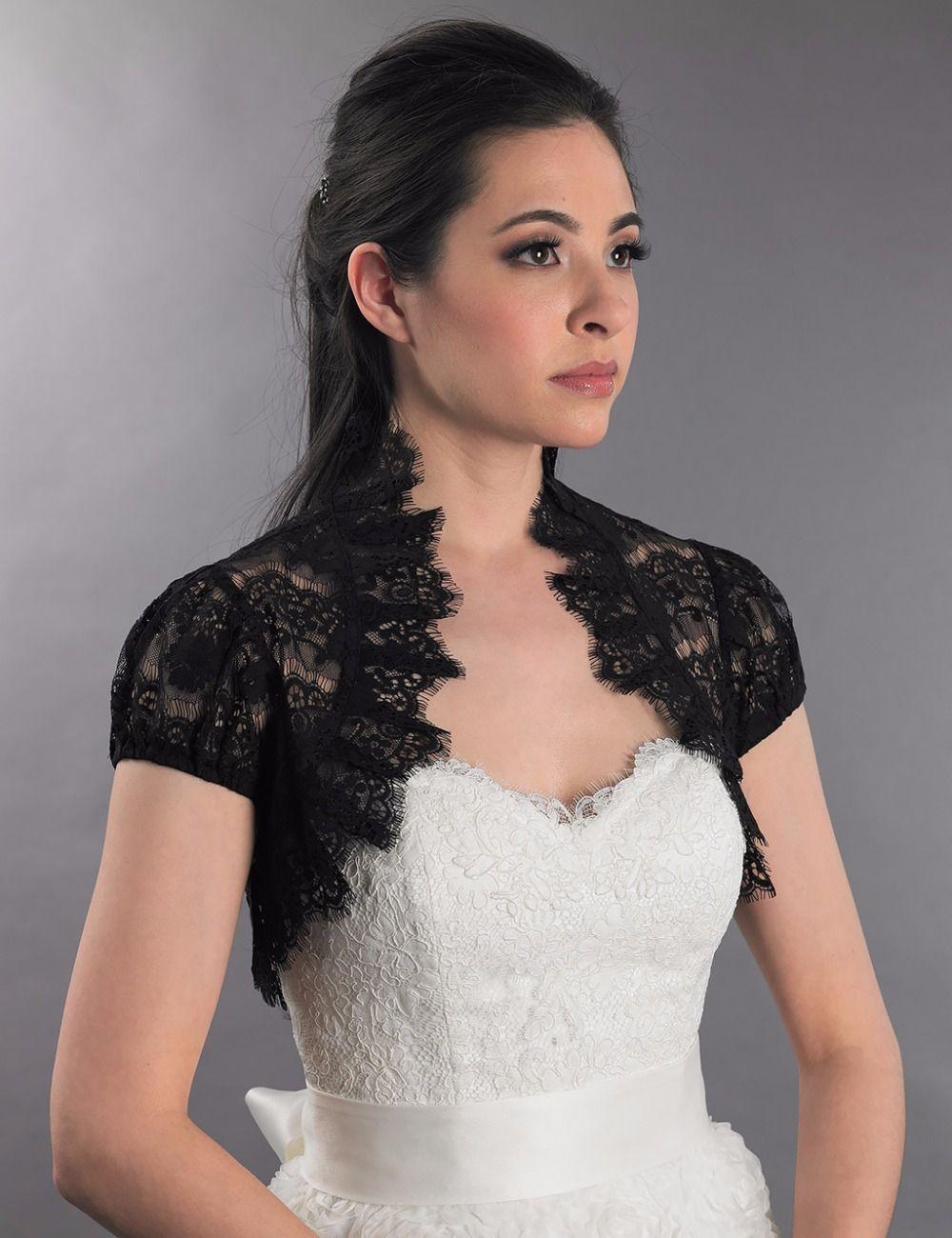Chaqueta para vestido negro de boda
