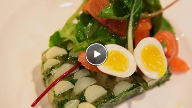 Aspic van witte asperges met verse kruiden - recept | 24Kitchen