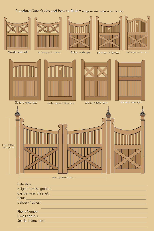Wooden gate designs gates pinterest
