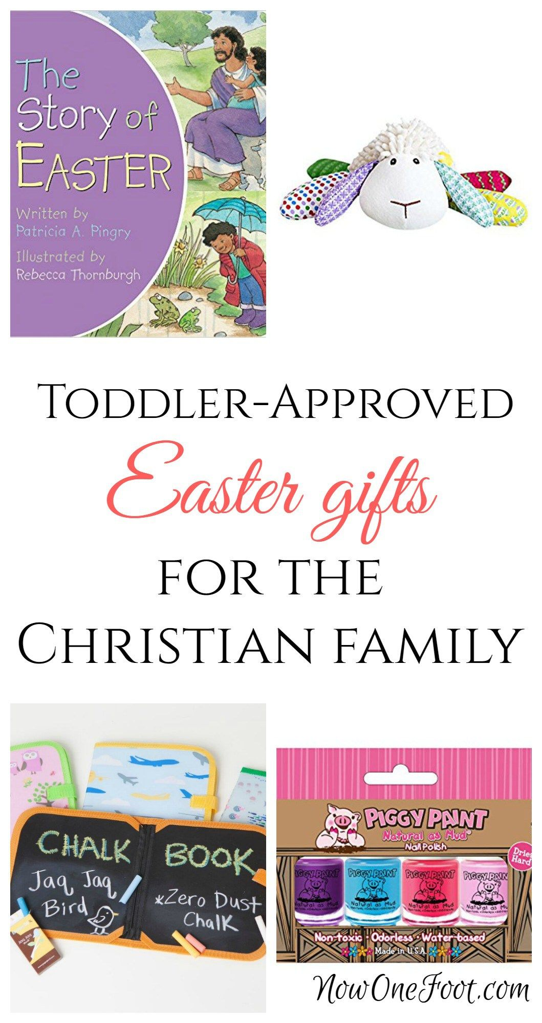Toddler approved easter basket gifts basket ideas easter baskets but if you are wanting to keep easter christ centered there are so many great options out there even easter basket ideas for a 2 year old negle Choice Image