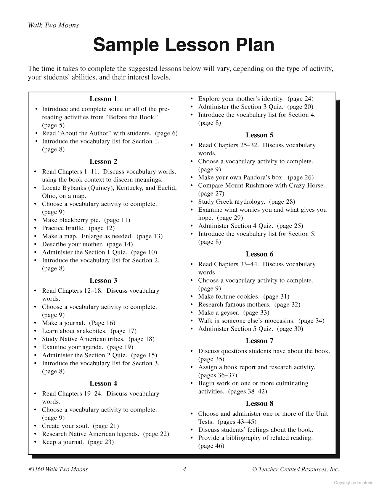 Worksheets Walk Two Moons Worksheets a guide for using walk two moons in the classroom 6th grade classroom
