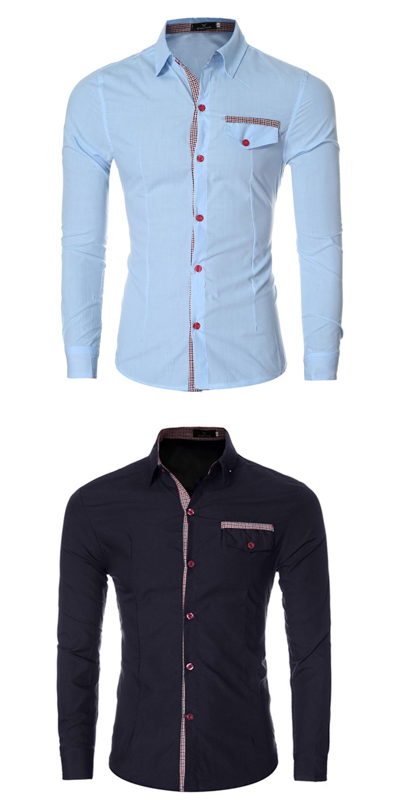 8bb0885b40b Male Dress Shirts 2017 Autumn Mens Shirt Slim Fit Chemise Homme Shirt  Striped False Pocket Heren