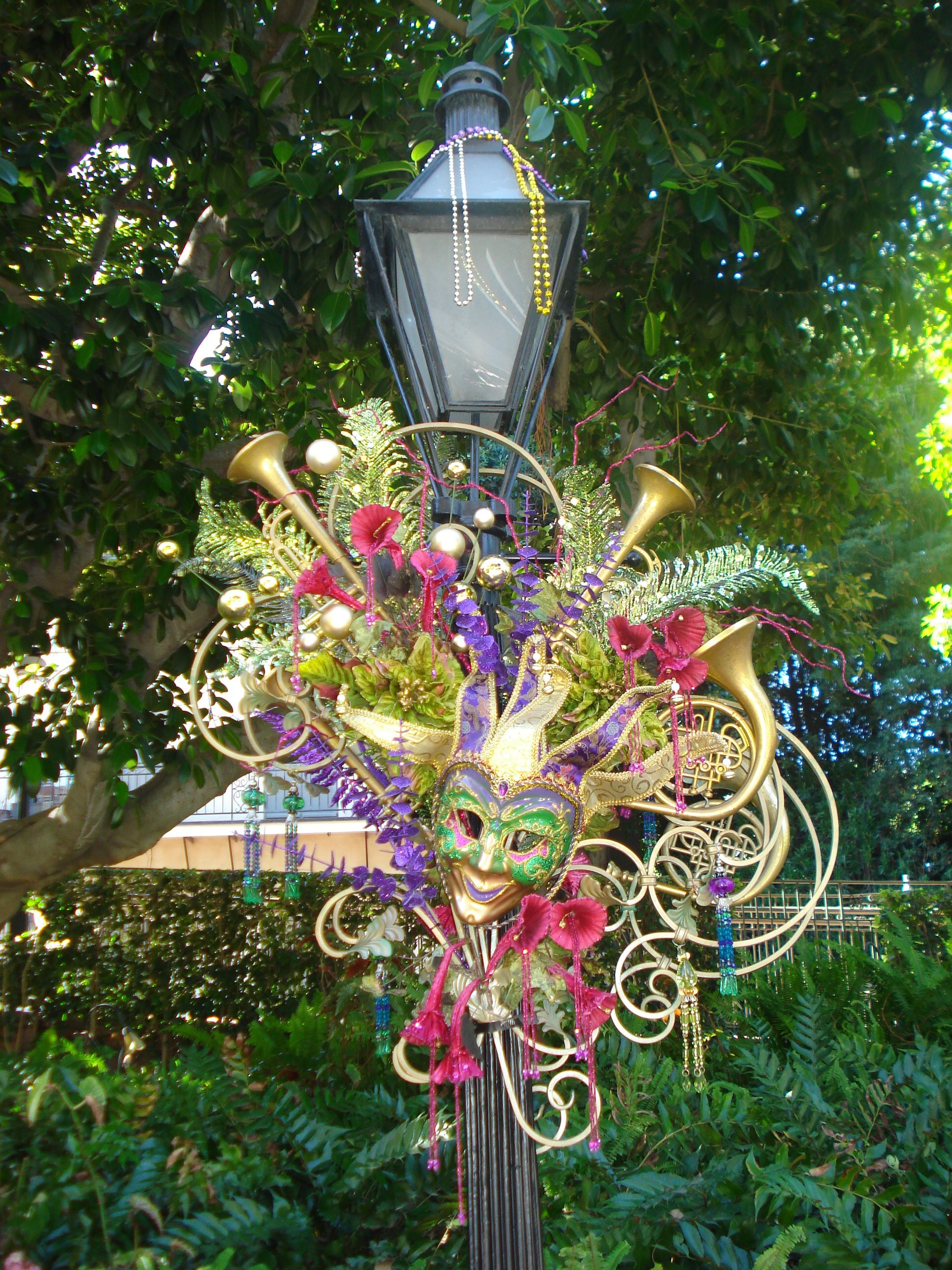 Mardi Gras decoration in New Orleans Square Disneyland