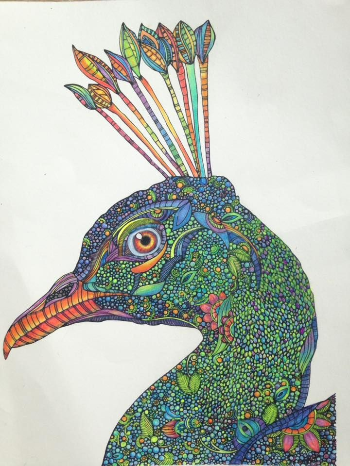 Valentina Harper Peacock Creative Coloring Animals