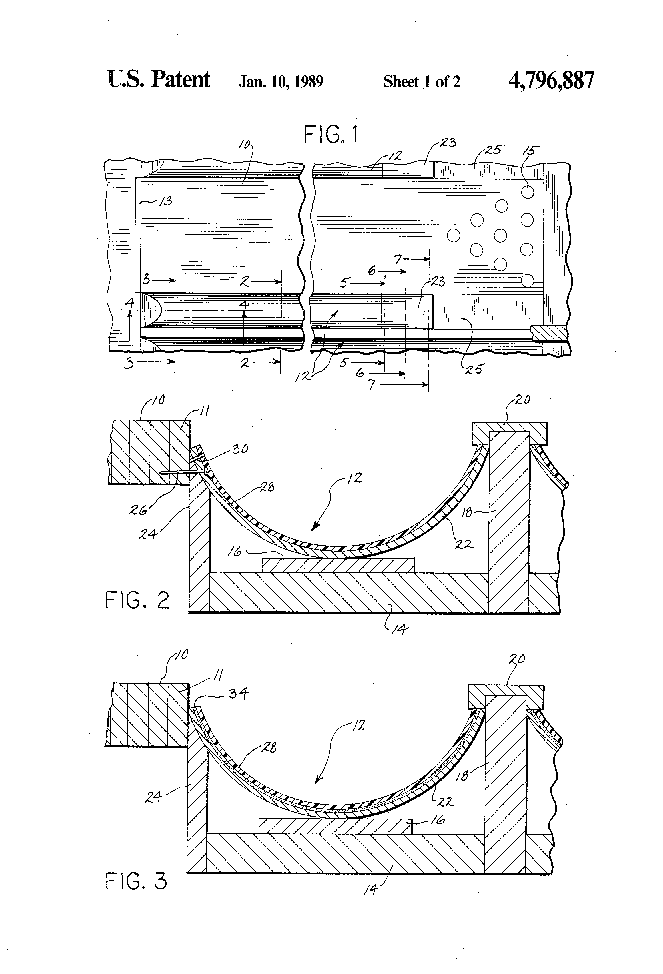 patent us4796887 - bowling lane gutter