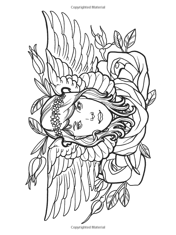 Creative Haven Modern Tattoo Designs Coloring Book Creative Haven Coloring Books Erik Siuda Crea Designs Coloring Books Coloring Pages Fairy Coloring Pages