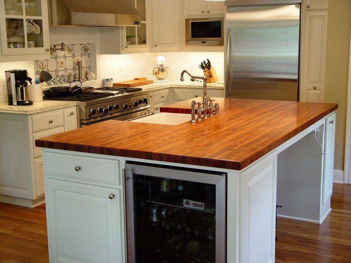 white wood cabinet orange countertop kitchen island with sink square sink tile backsplash on laminate floor on astonishing cabinet