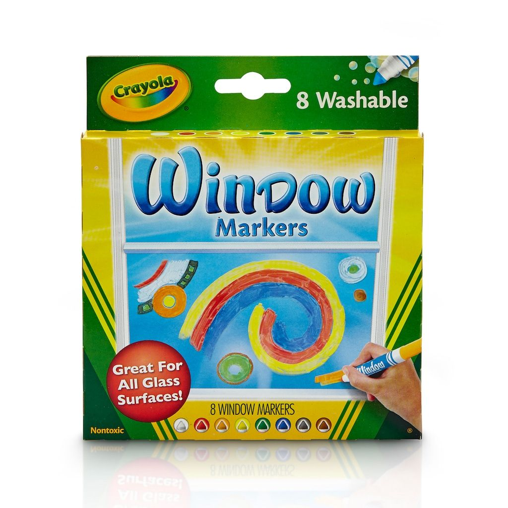 Crayola Washable Window Markers 8 Count In 2020 Window Markers Crayola Window Markers Washable Markers