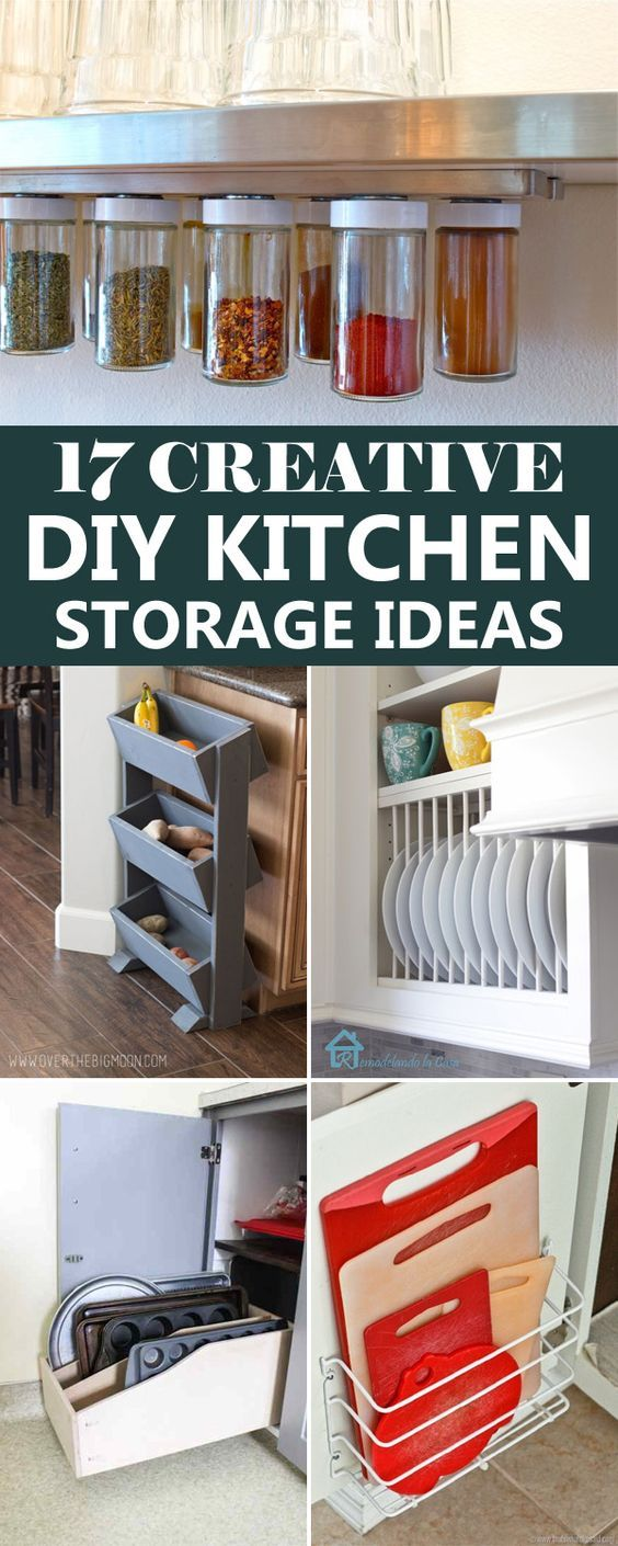 17 creative diy kitchen storage ideas diy kitchen on clever ideas for diy kitchen cabinet organization tips for organizers id=27587