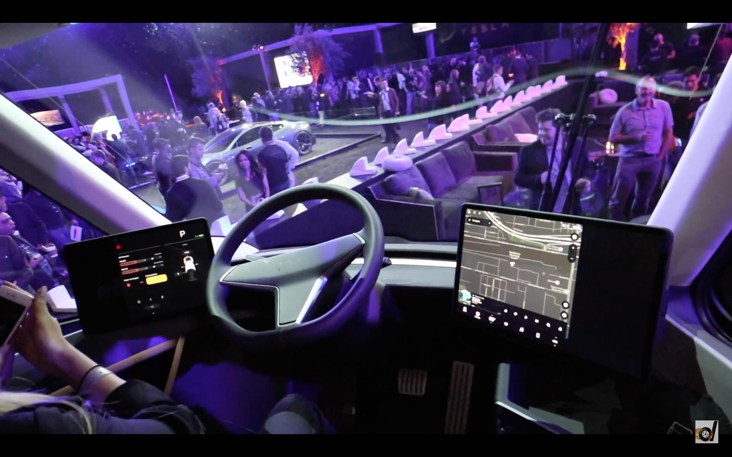 Video Inside The New Tesla Semi Truck Walk Around Tesla