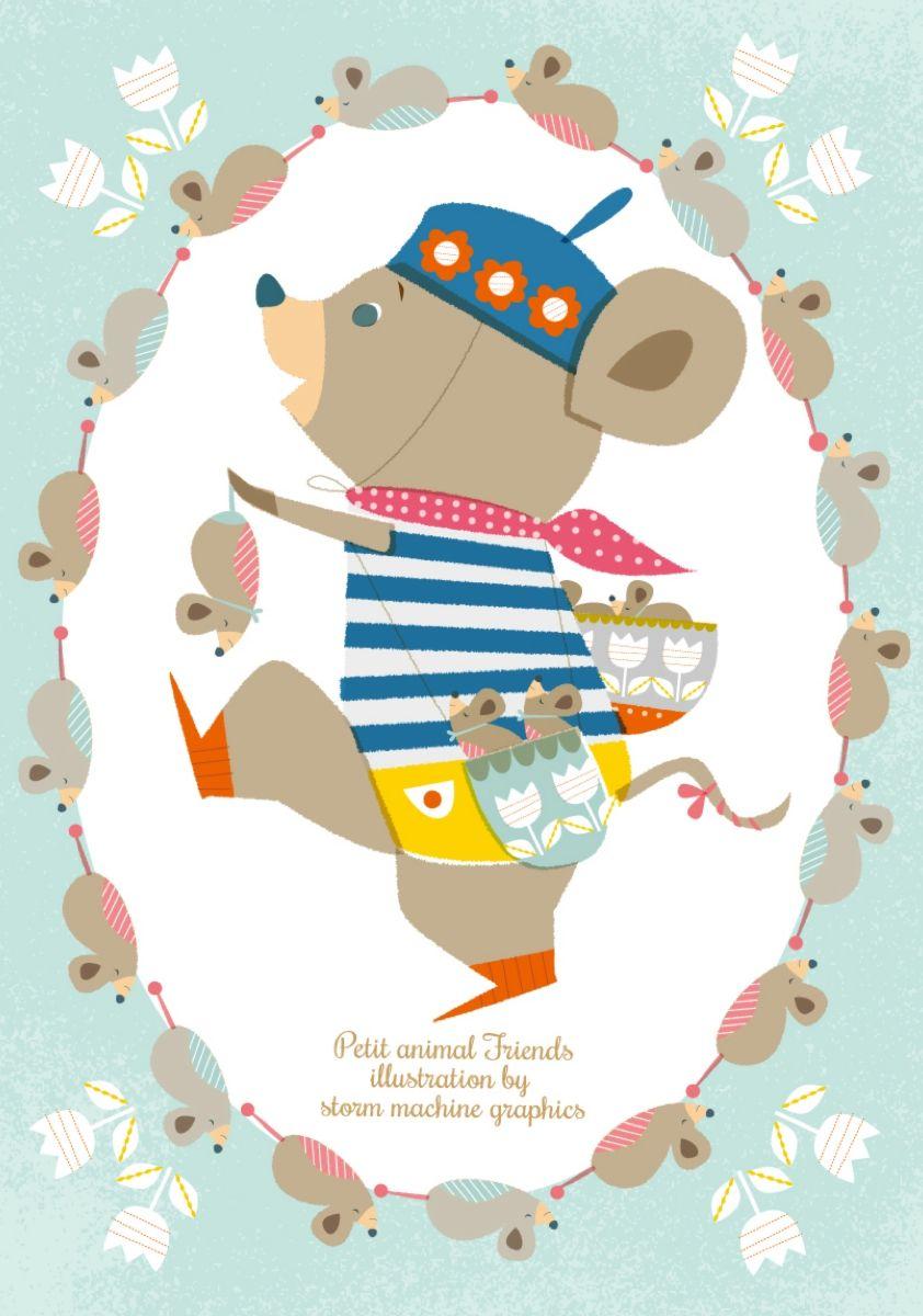 ねずみさんマーク03 | illustrations | pinterest | かわいい