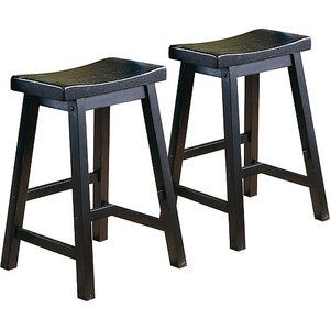 Ashby Counter Stools 24 Quot Set Of 2 Black Rubbed Wal Mart
