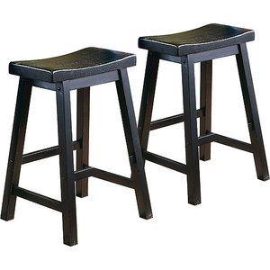 "Ashby Bar Stools 29"" Set Of 2 Black Rubbed  Walmart The O'jays Stunning Walmart Kitchen Stools Design Inspiration"