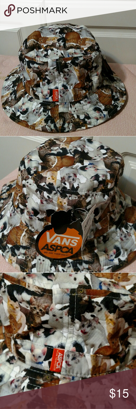 Vans x ASPCA Cat bucket Hat Brand New Vans USA animal humane society cats  bucket. Perfect for sunny hot day. Vans Accessories Hats a84197d8005