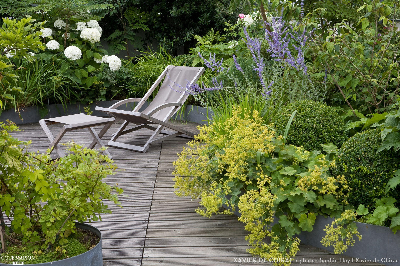cr ation d 39 une terrasse champ tre xavier de chirac c t maison drau en garten terrasse. Black Bedroom Furniture Sets. Home Design Ideas