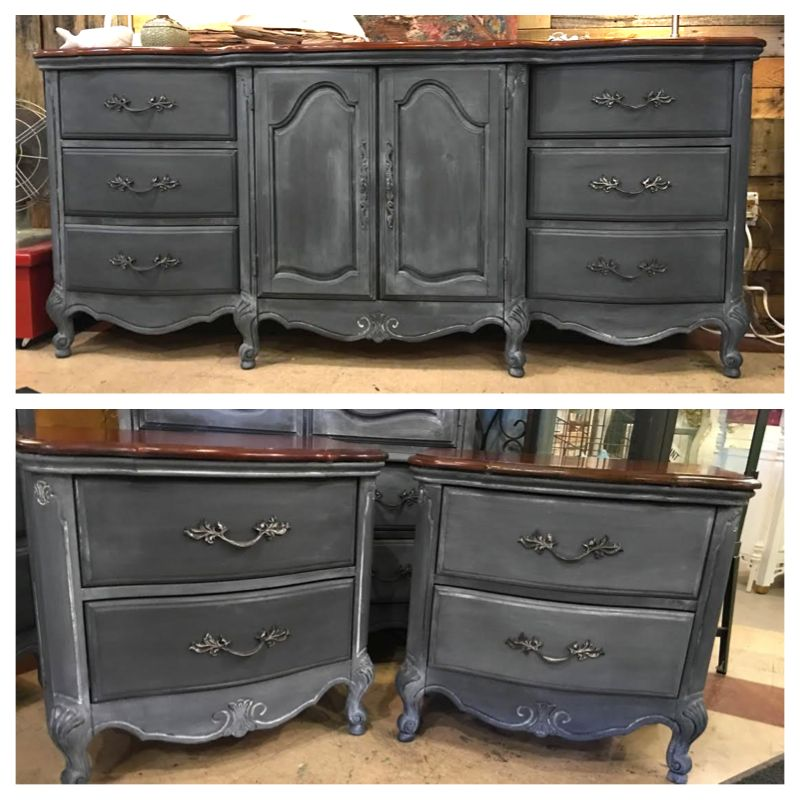 how to use chalk paint with tinted wax on furniture for a natural aged effect creative. Black Bedroom Furniture Sets. Home Design Ideas