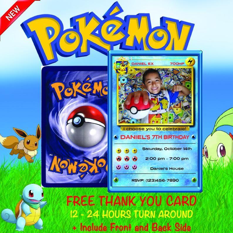 Pokemon Invitation Pokemon Birthday Invitation Pokemon Etsy Pokemon Invitations Pokemon Birthday Pokemon Birthday Party