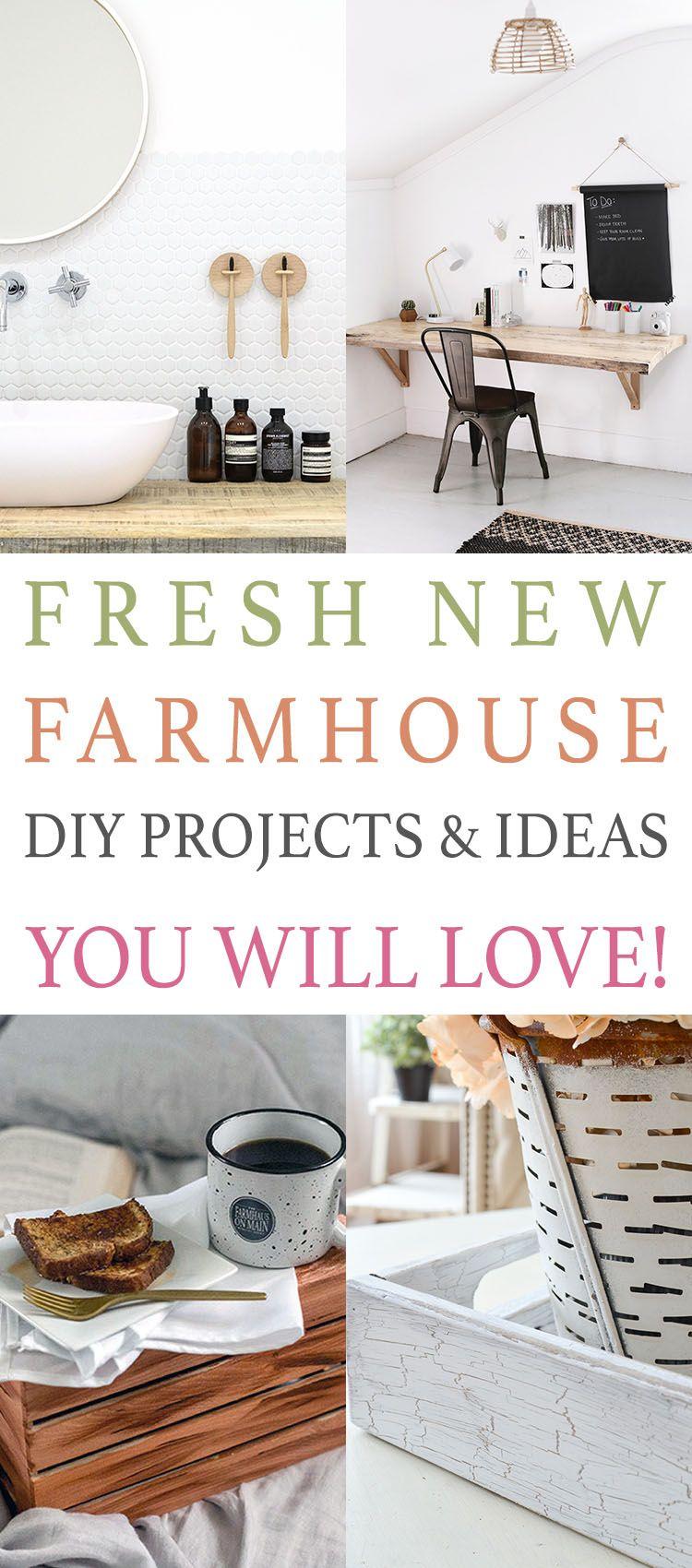 Farmhouse Decor Clean Crisp Organized Farmhouse: Fresh New Farmhouse DIY Projects And Ideas You Will Love
