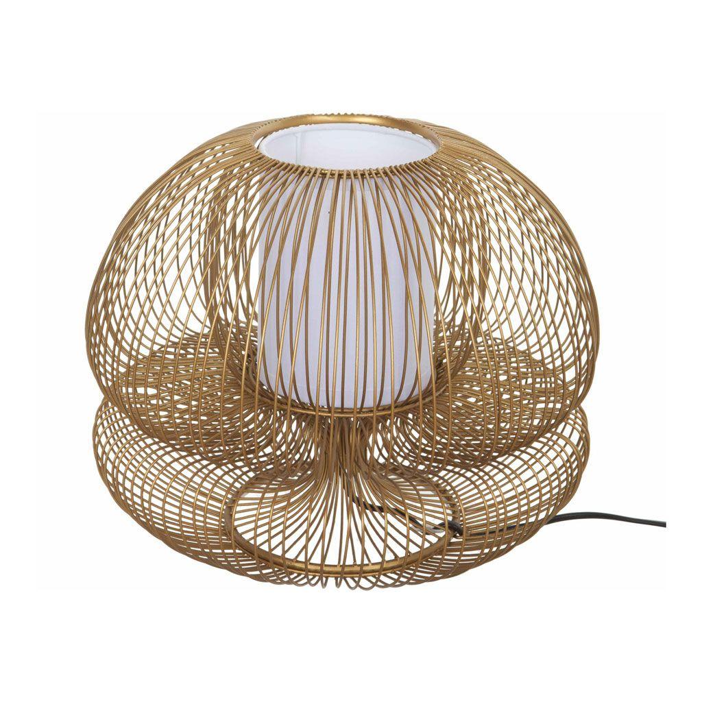 Table Lamp Iron Gold 280 325 086 Molenaar Meubelen Goud Verlichting Metaal