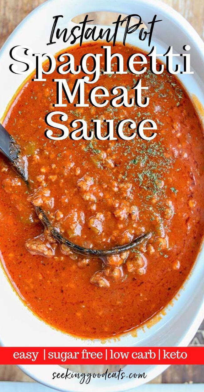 Instant Pot Spaghetti Sauce Recipe In 2020 Pressure Cooker Spaghetti Sauce Recipe Recipe Using Applesauce Keto Beef Recipes
