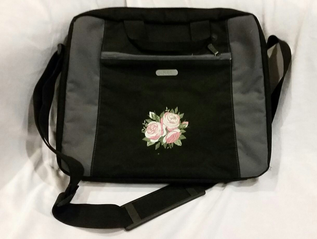 Bespoke embroidery on a mainstream Laptop Bag giving it that personal and  distinctive touch