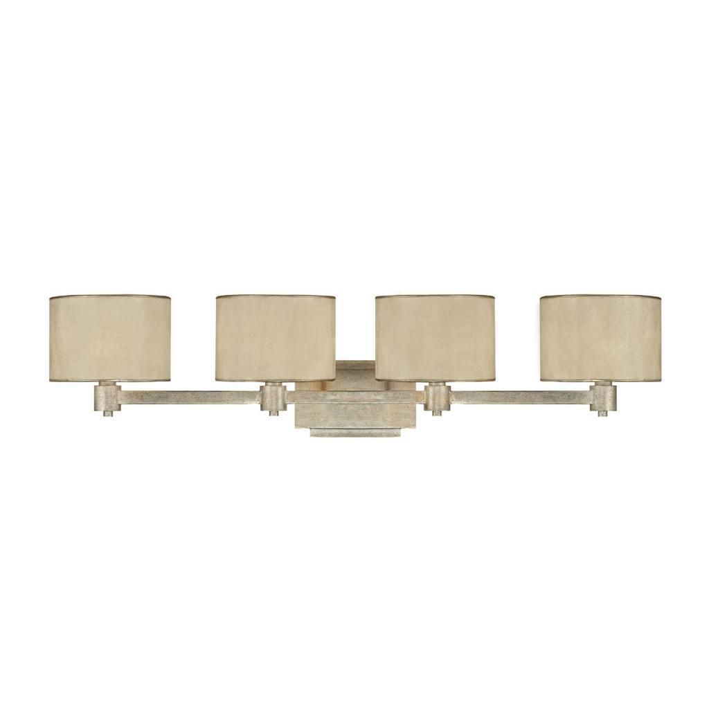 Bathroom Light Fixtures With Fabric Shades this luna collection 4-light vanity/bath light features a hand