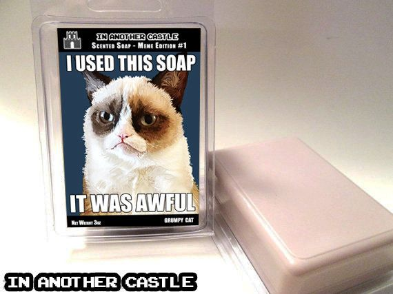 GRUMPY CAT Scented Soap  In Another Castle by InAnotherCastleDecor, $5.00 Geek soap - MEME Edition