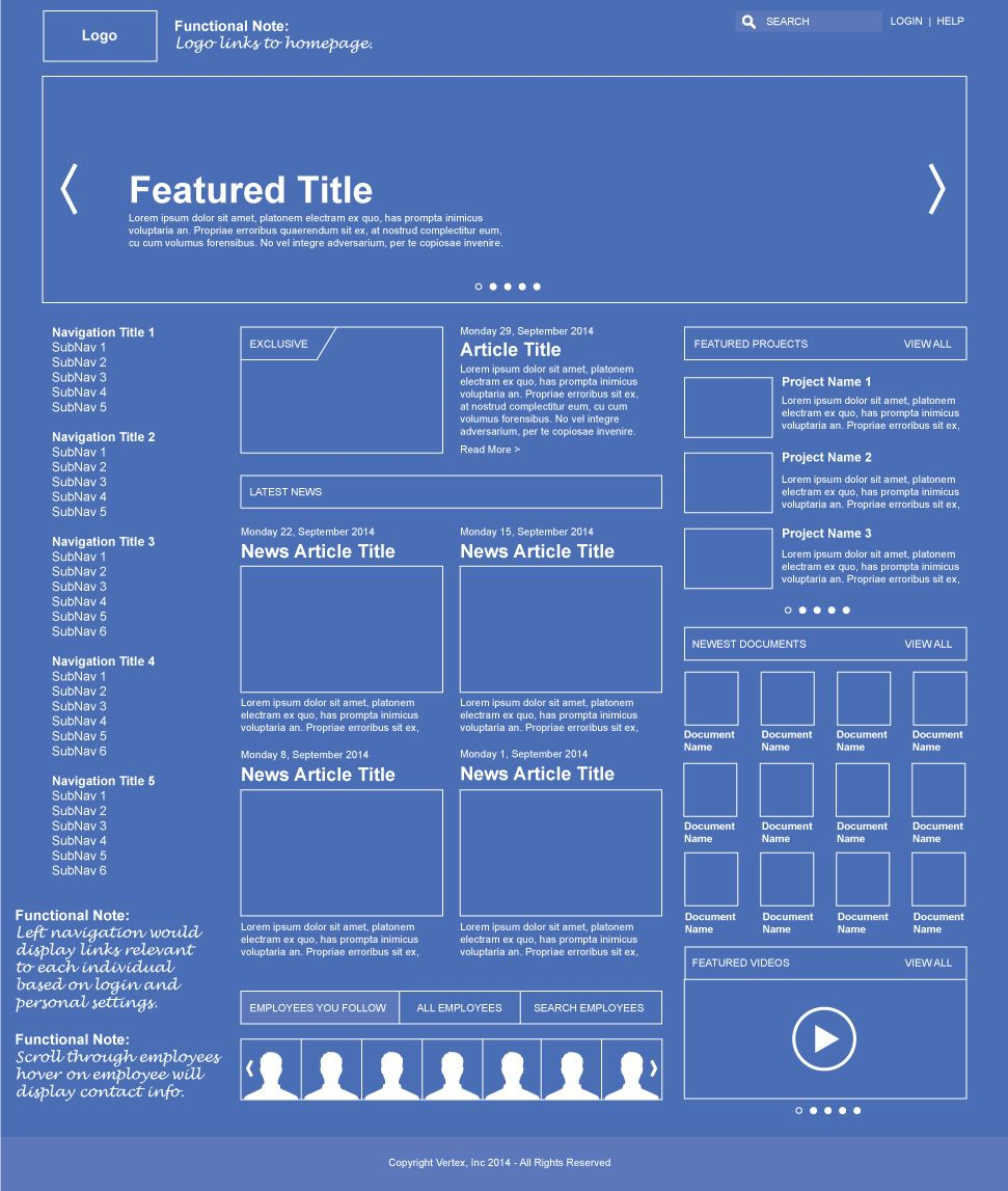 Wireframe Layout For New Intranet My Designs Pinterest Network Diagram Photo Album Diagrams Design Web Dashboard Sharepoint