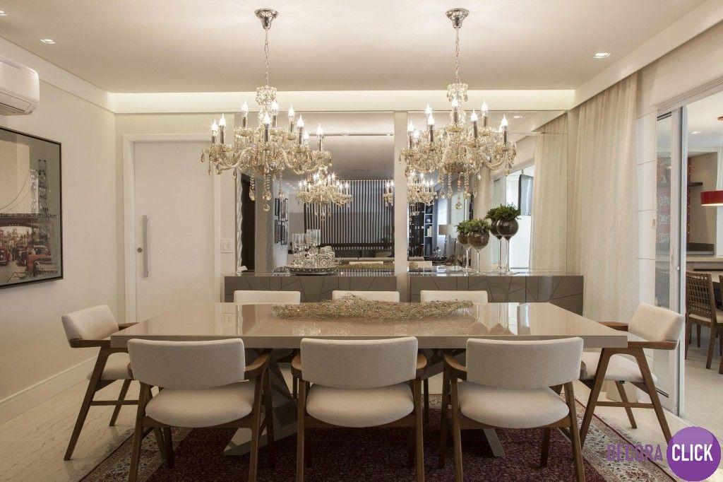 Buffet De Luxo Para Sala De Jantar ~ de Interiores  Salas de Jantar Puro luxo nesta sala de jantar