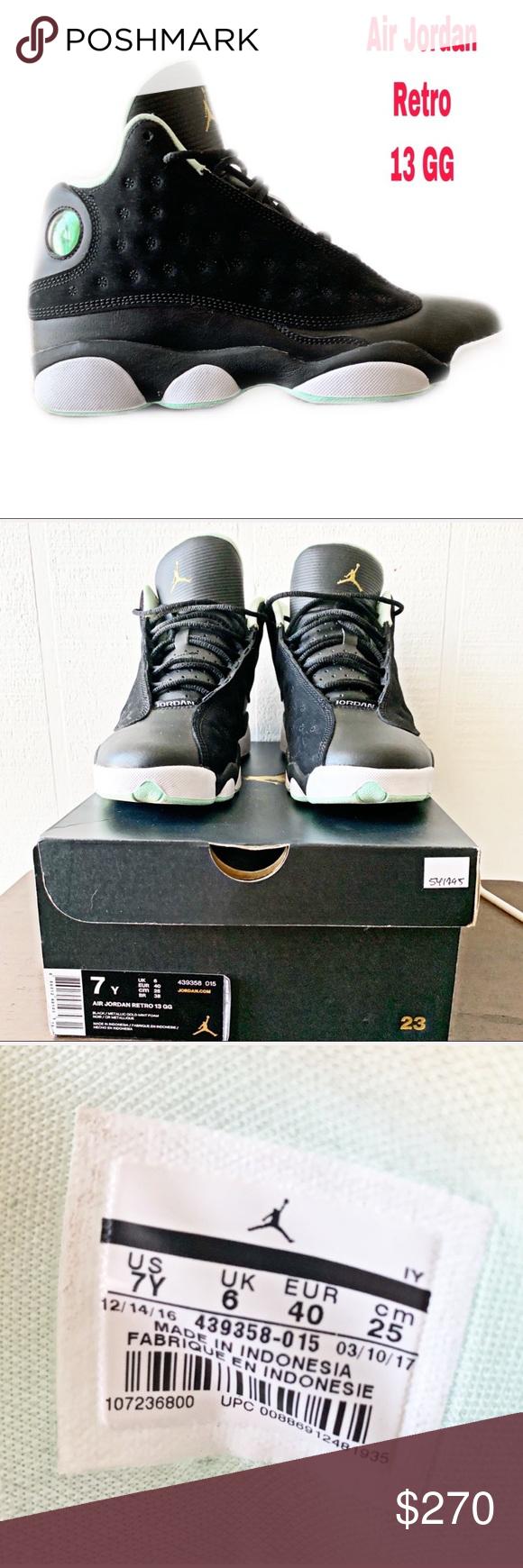 Photo of 🏀 Air Jordan Black Retro 13 GG Size 7 Authentic Air Jordan Black Retro 13 GG …