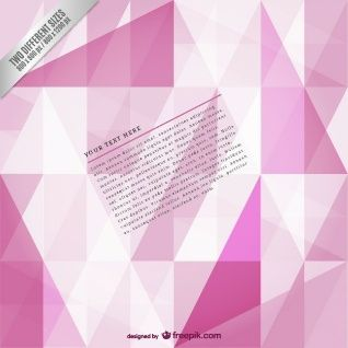 Pink polygonal background template | Vector of illustrator ...