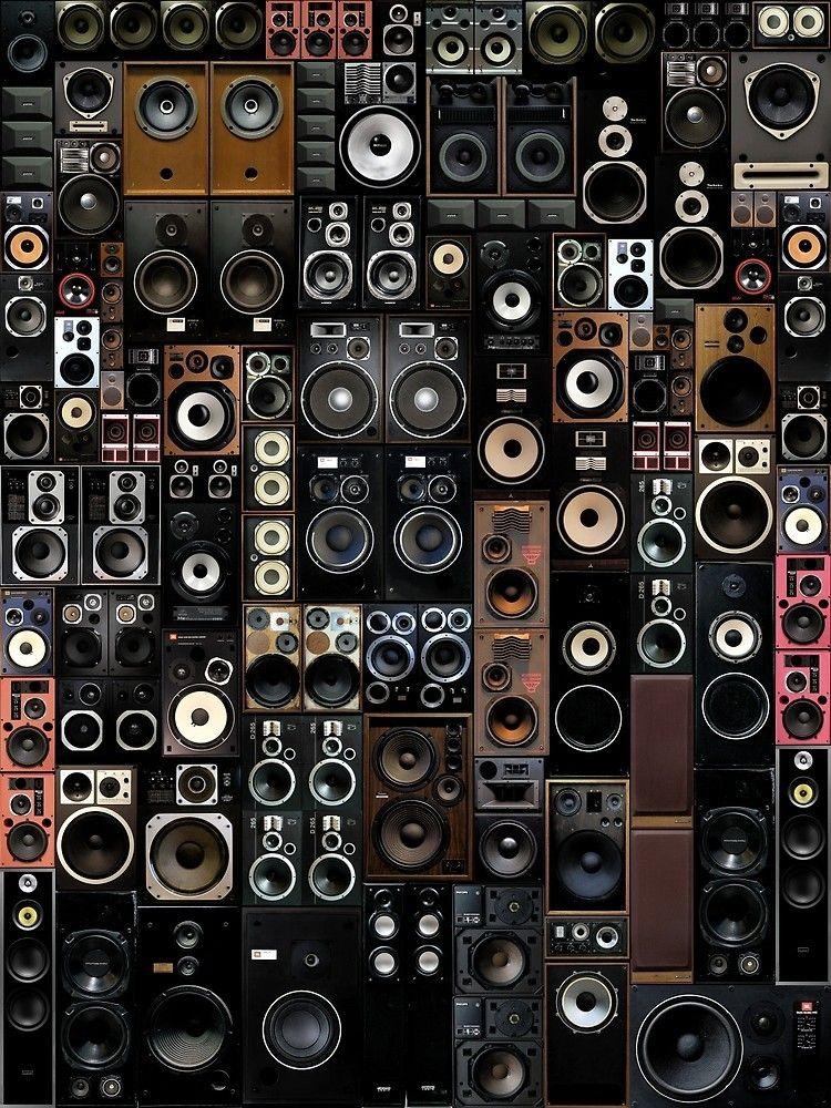 Patternatic Photo Headphones Art Vintage Speakers Home Music Rooms Speaker iphone wallpaper hd wallpaper