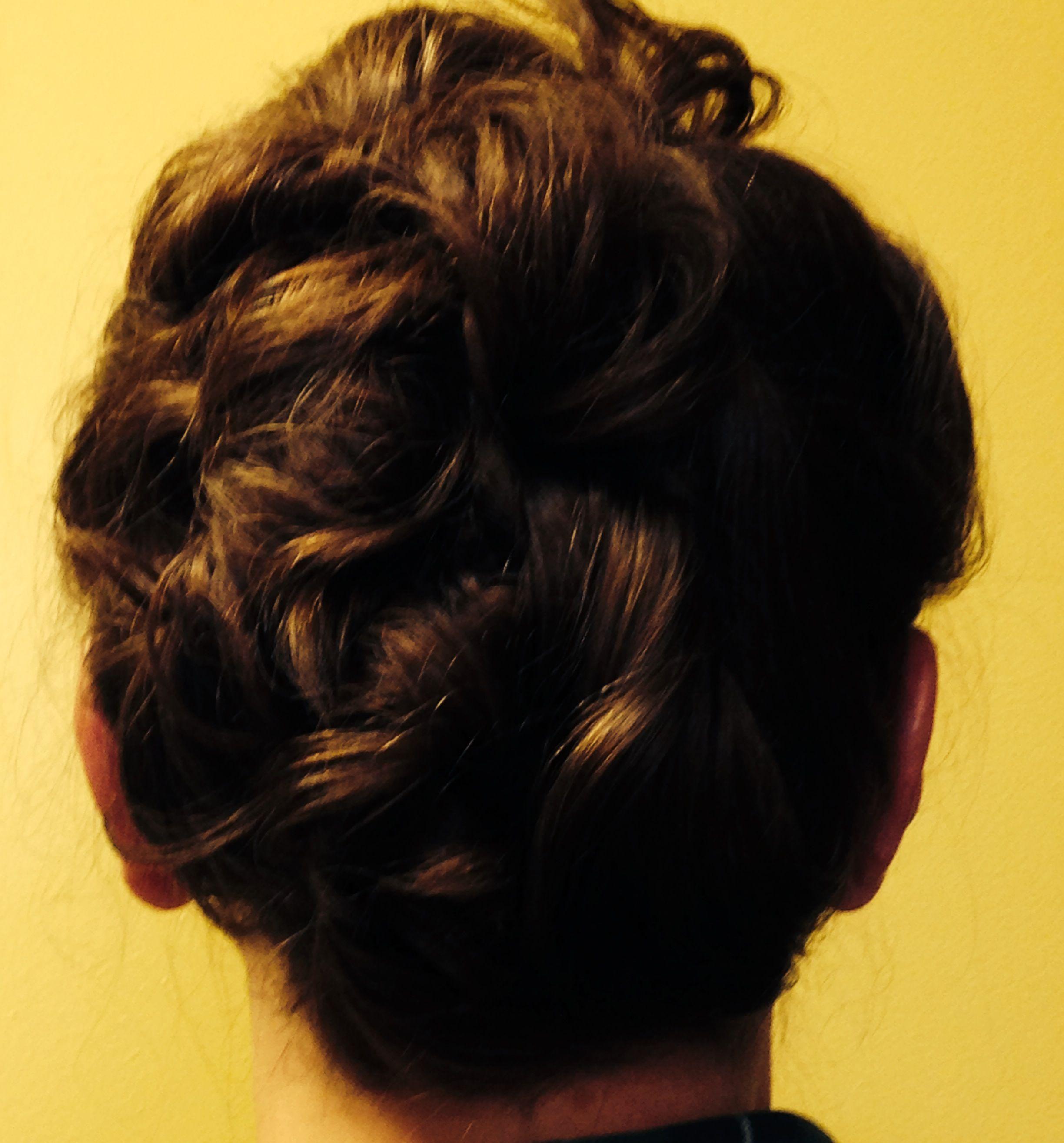 Unique and elegant updo artiste salon hair styles pinterest