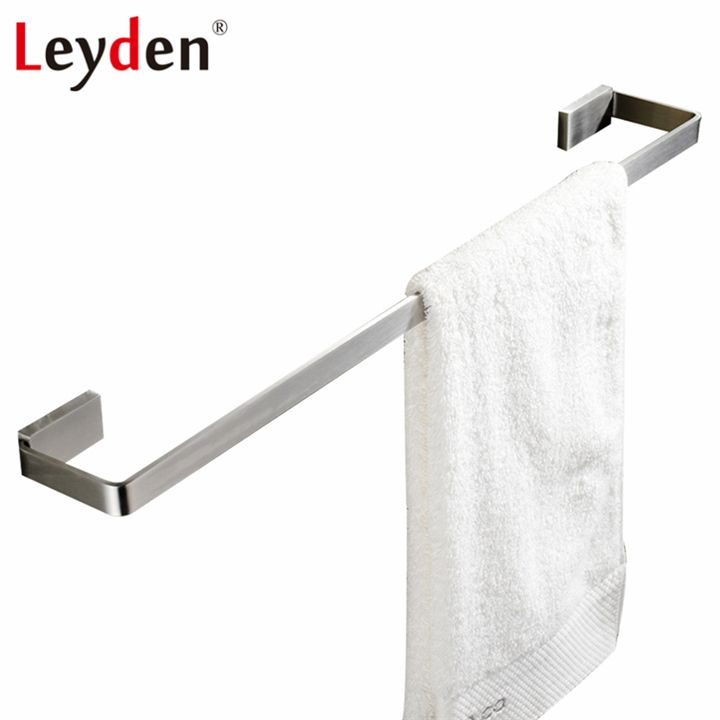 Leyden Single Square Towel Bar Holder Wall Mount Stainless Steel