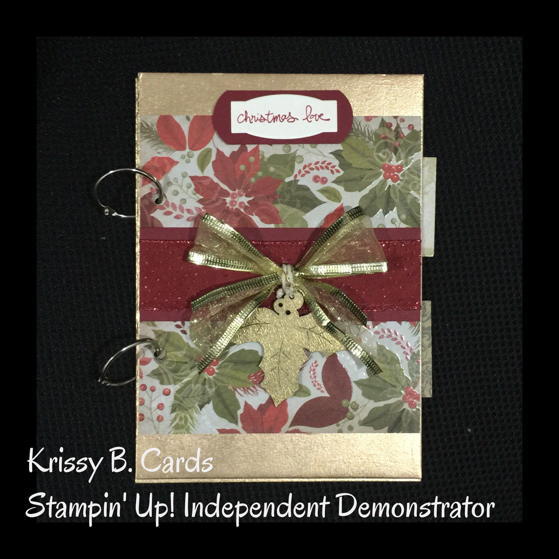 Christmas Card Keepsake Album Card Keepsake Albums Pinterest