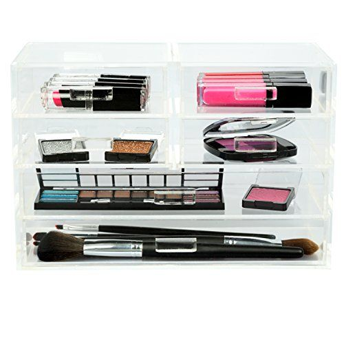 Cosmetic Organizer and Jewelry Organizer with 6 Drawers by DEco