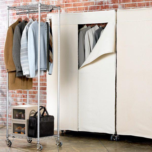 Intermetro Clothes Rack With Cotton Canvas Cover Clothing Rack Kids Clothing Rack Garment Racks