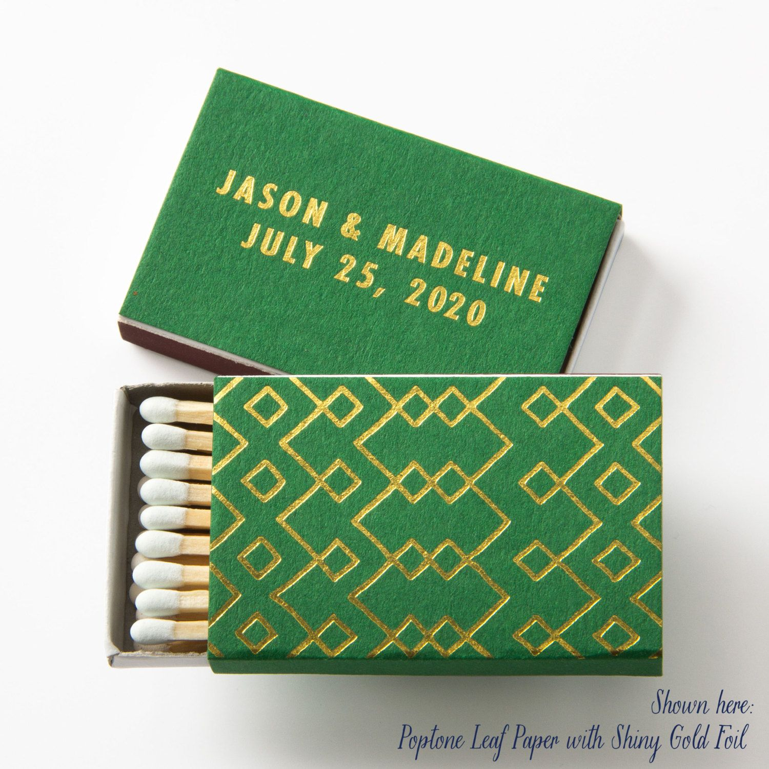 Tribal Geometric Matchboxes Wedding Favors Wedding Matches