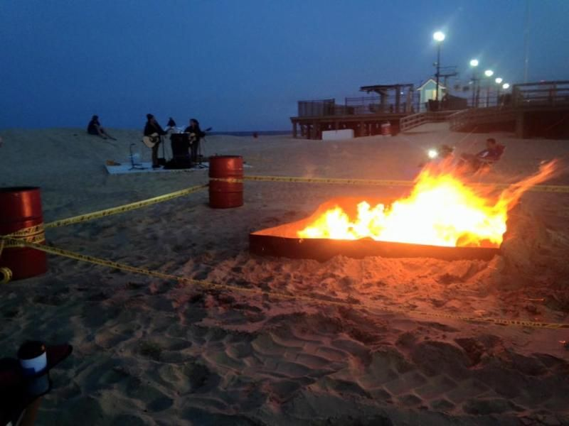 Bonfire on the Beach in #seasideheights >**TONIGHT** Monday, July 20th at dusk Fremont Avenue> sit back and enjoy ..