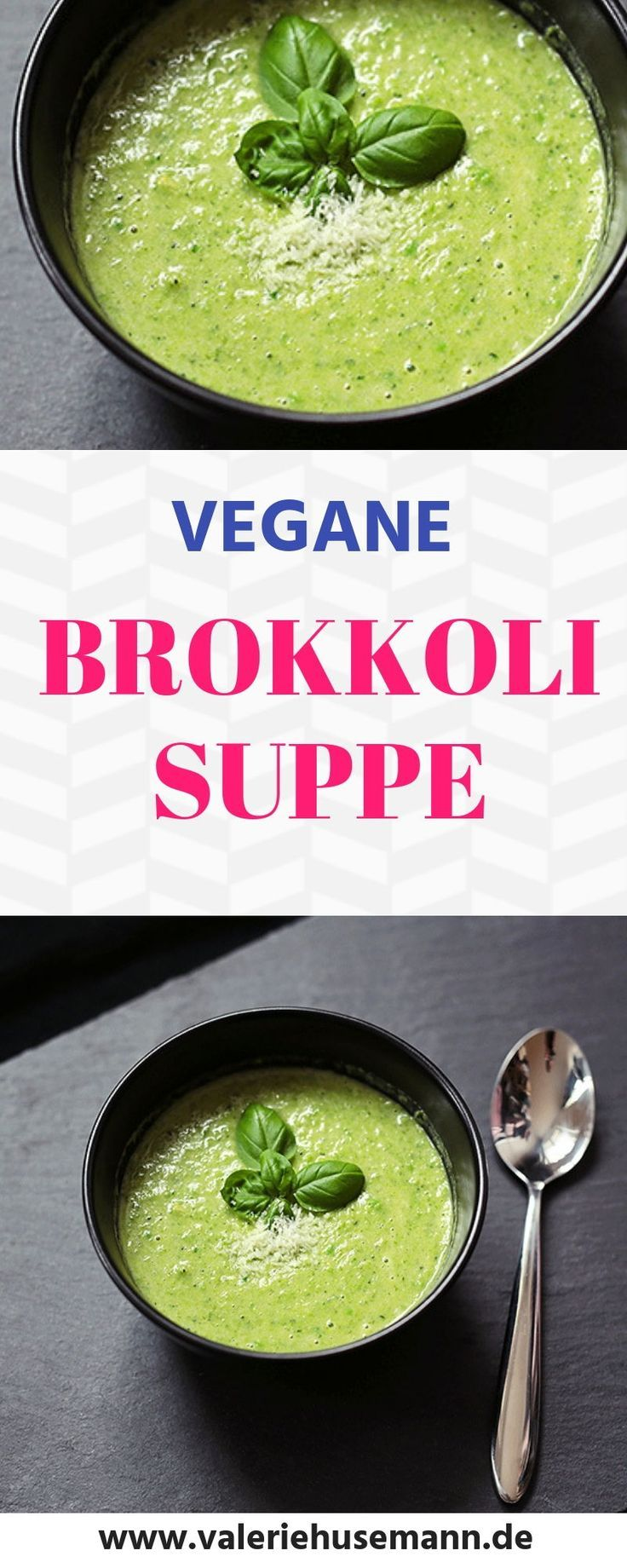 Brokkoli-Suppe, vegan #summerdinneroutfits