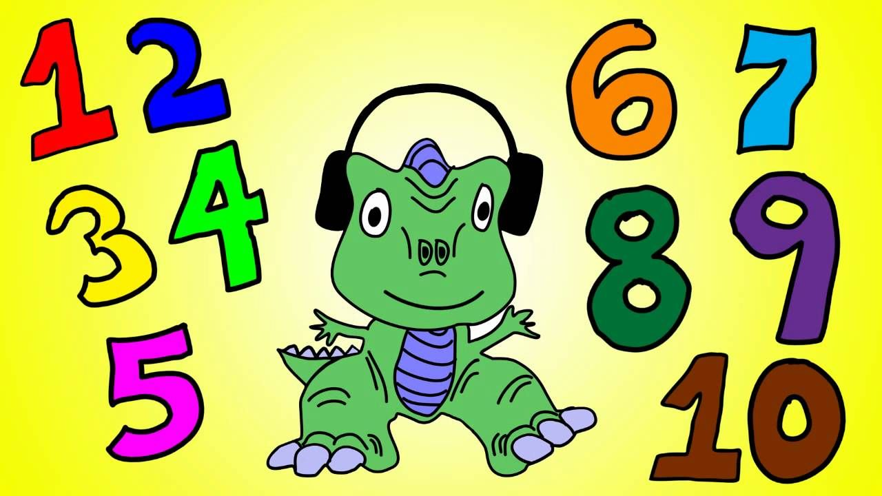 Dinosaur Numbers 1 to 10 - Learn Numbers 1 to 10 with the Dinosaur ...