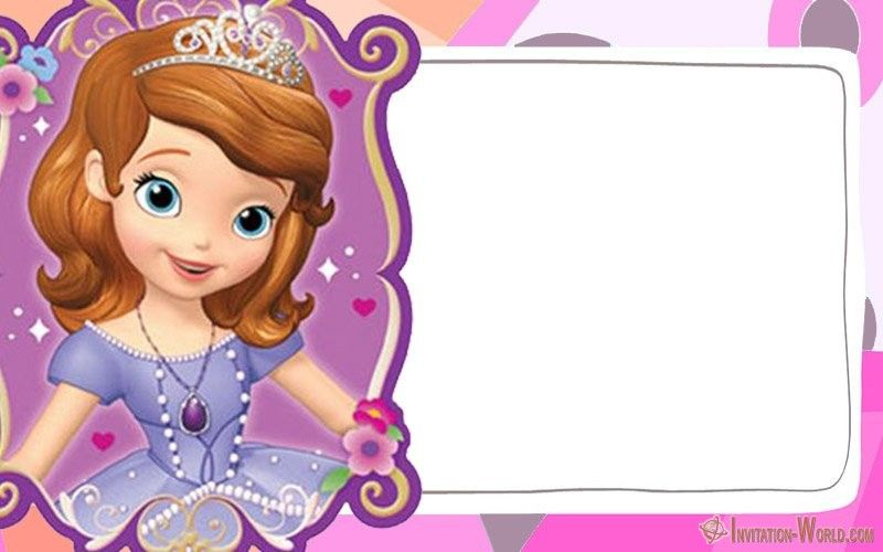 Invitation World Princess Sofia Invitations Free Online Invitation Templates Sofia Invitation