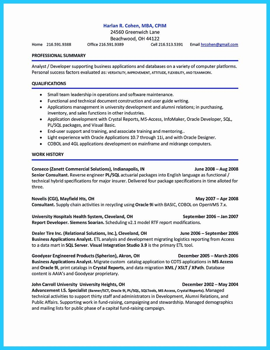 Accounts Receivable Analyst Resume Best Of Awesome Account Receivable Resume To Get Employer Impressed In 2020 Resume Examples Best Resume Template Job Resume Samples