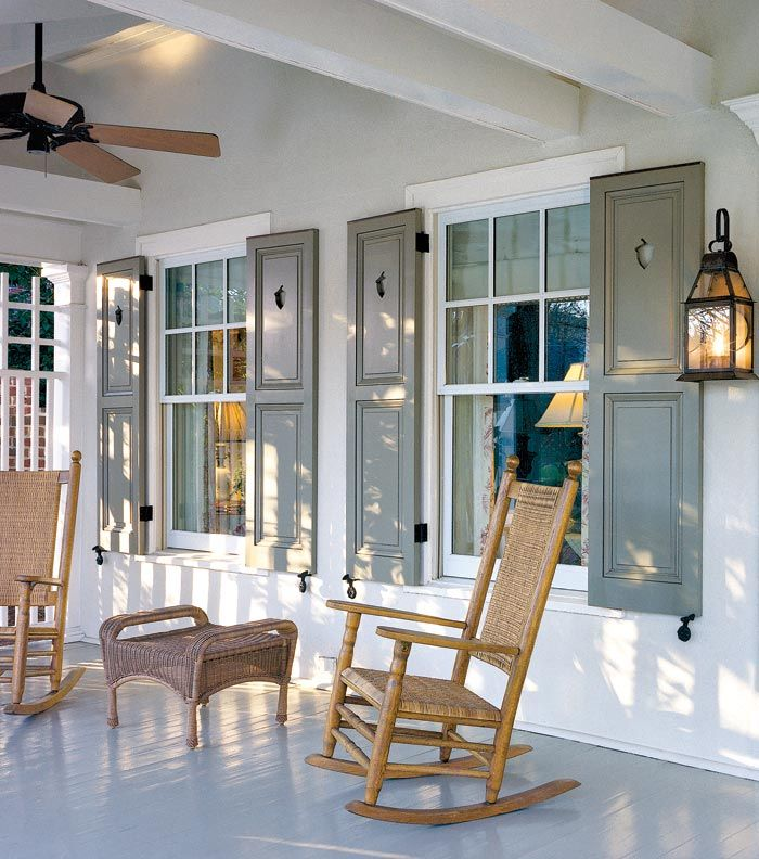 The best shutters for old houses driggs farm exterior for Cottage style exterior shutters