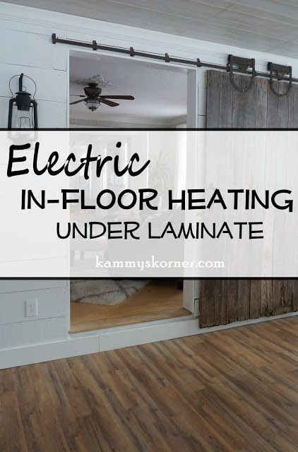 Installing Electric In Floor Heating Kammys Korner Pinterest