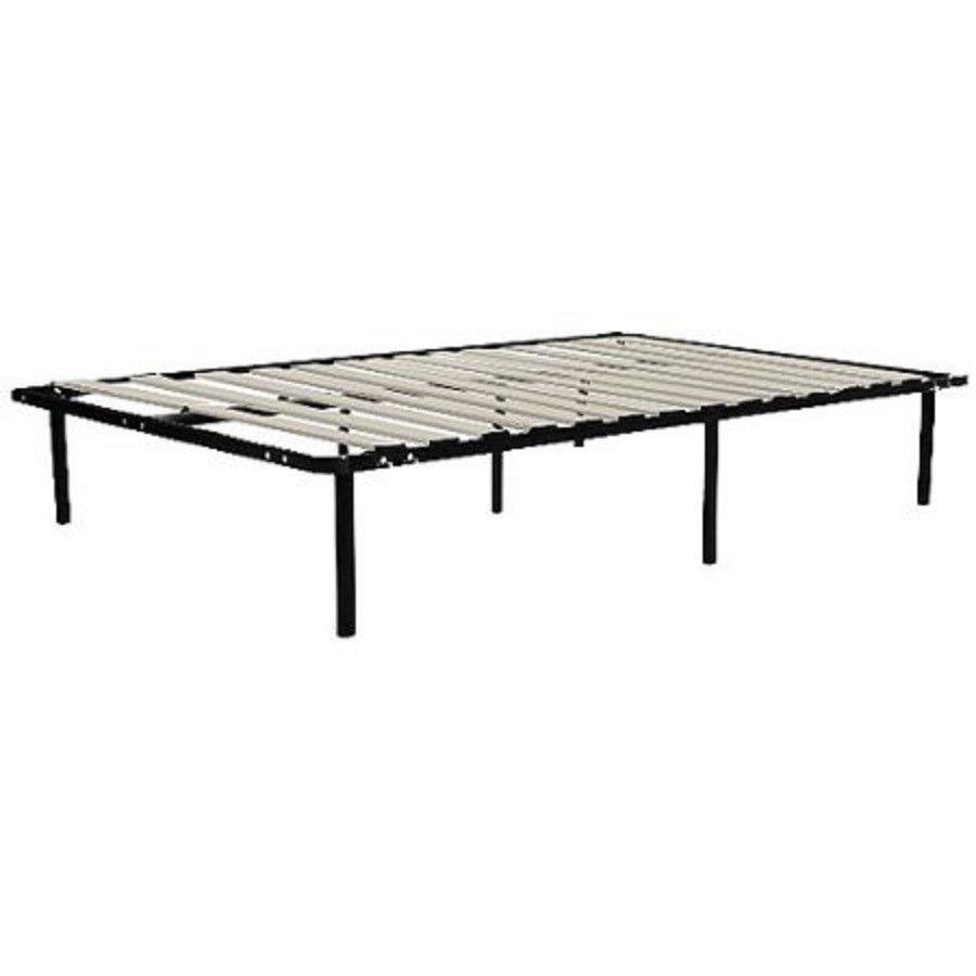 Metal Black Bed Frame With Wooden Slats Bedroom Furniture Multiple ...