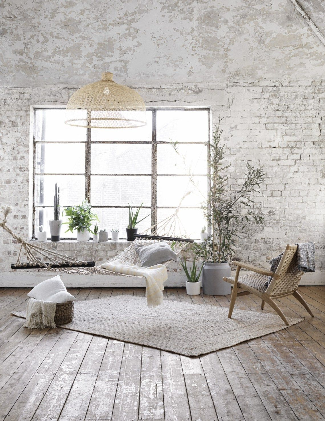 Lofty Greens Coco Lapine Design Brick Interior White Brick Walls House Design
